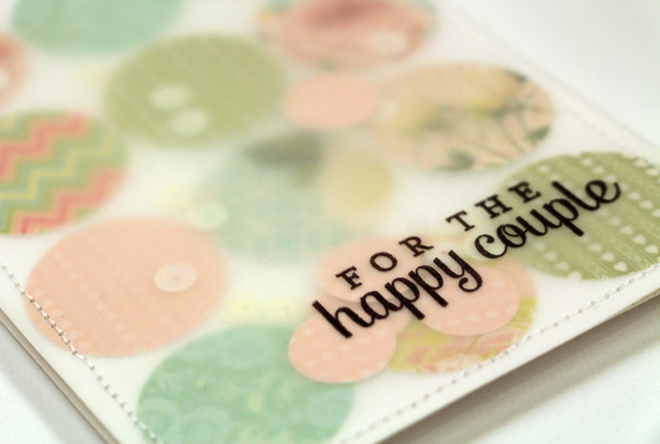 happy couple confetti card julia stainton