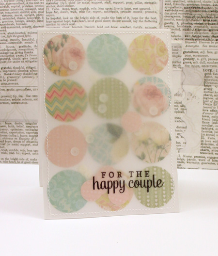 happy couple confetti card