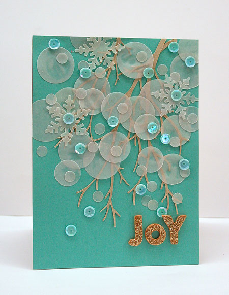 Wintery Bokeh Joy Card by Julia Stainton