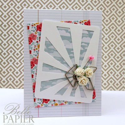 The Sunray Journaling Card & free digital cutting file