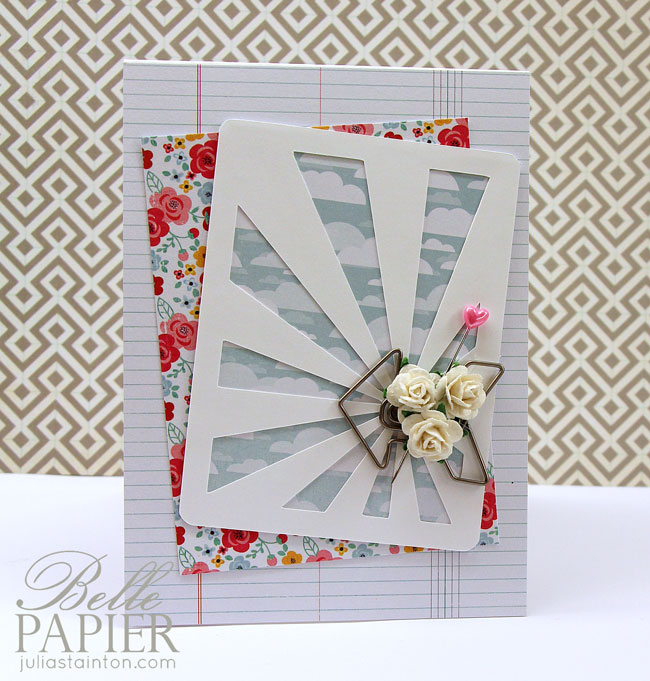 Sunray Digital Journaling Card Cutting File Card by Julia Stainton - with free digital cutting file in SVG and PNG formats