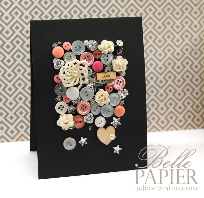Floral Love Cascading Embellishments Card & Tutorial