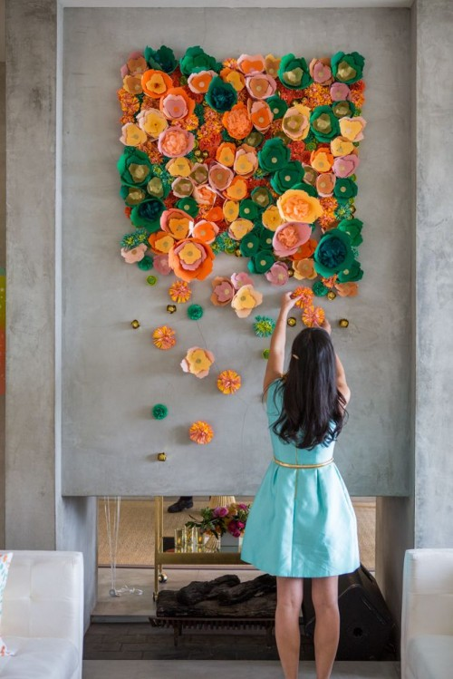 target floral wall