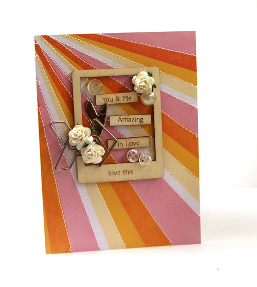 You and Me Valentine Card With Wood Accents