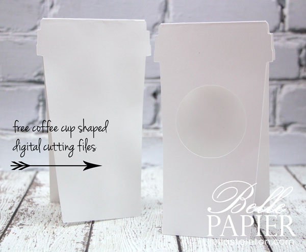 Coffee Cup Shaped Cards with FREE digital cutting files by Julia Stainton SVG and PNG formats