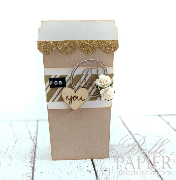 Coffee Cup Shaped Cards with FREE digital cutting files by Julia Stainton