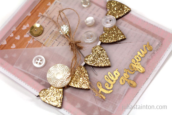 Hello Gorgeous Vellum & Gold Card Julia Stainton for the Essentials by Ellen Winter 2015 release and blog hop