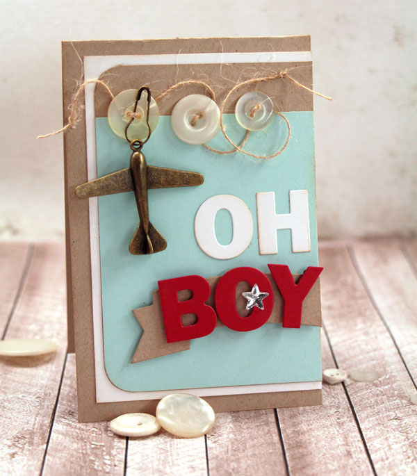 Oh Boy baby boy card by Julia Stainton using MFT sketch #221