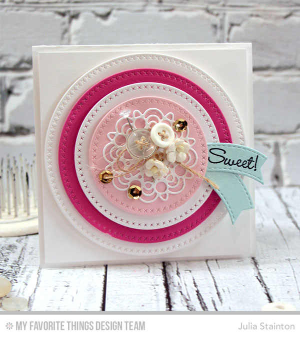Sweet Stitched Circles Card by Julia Stainton for MFT Stamps