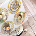Doilies circle Card by Julia Stainton