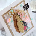 Feather Die Cuts Card by Julia Stainton