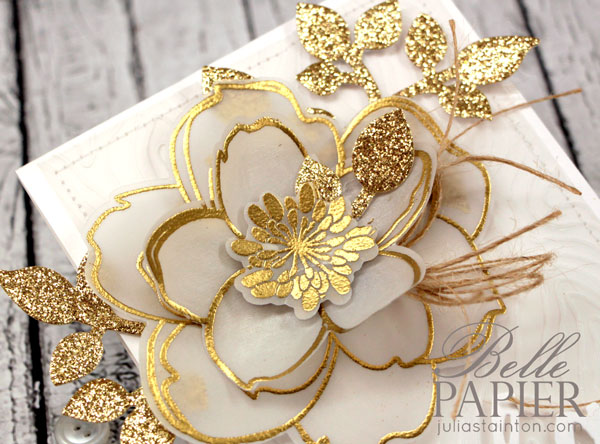 Gold + Vellum Embossed Magnolia Card by Julia Stainton for the CLASSroom