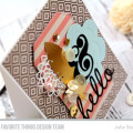 Hello Die Cutting Card by Julia Stainton for MFT Stamps