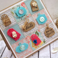 Quilted Tags card by Julia Stainton for Taylored Expressions