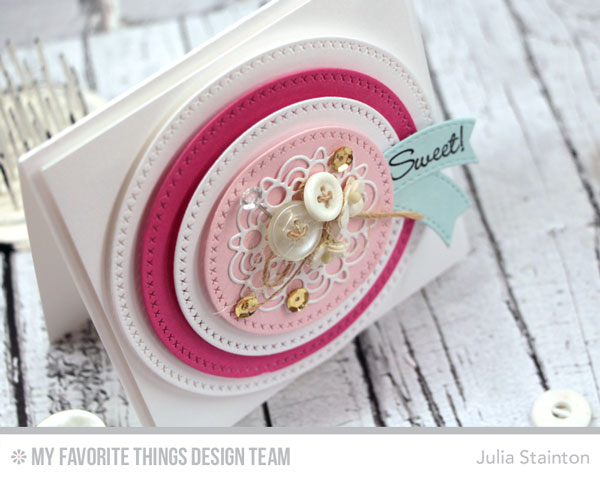 Sweet Circles Card by Julia Stainton for MFT Stamps