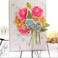 Watercolor Flowers Bouquet Card by Julia Stainton for MFT Stamps