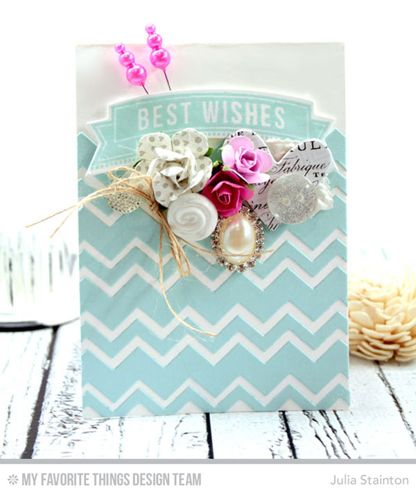 best wishes bridal shower card by julia stainton featuring mft stamps