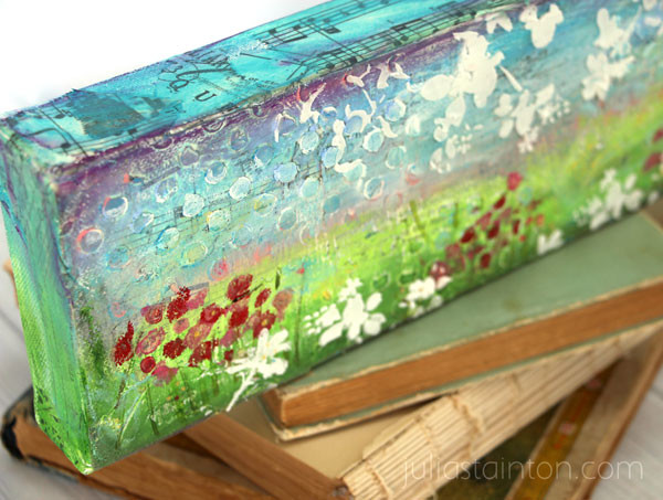 Gelatos Mixed Media Landscape Canvas by Julia Stainton