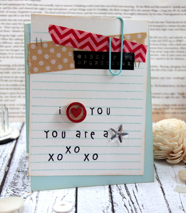 Note Paper Card by Julia Stainton featuring Paper Smooches stamps and washi tape