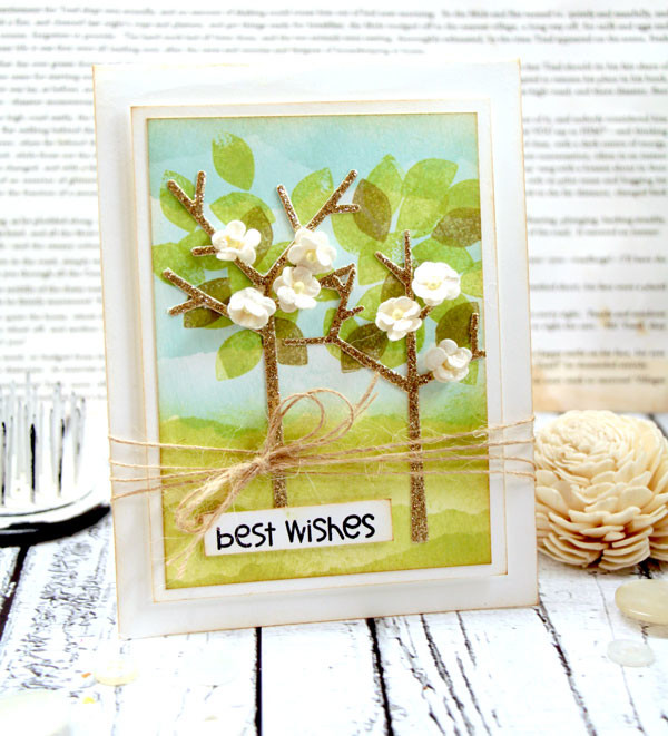 Glitter Trees Card by Julia Stainton
