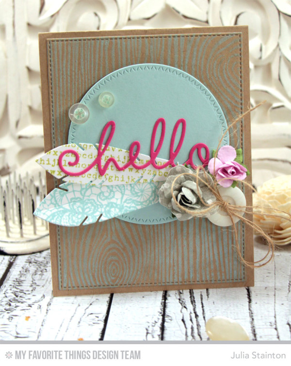 Hello Card featuring Tutorial on Movement in Design by Julia Stainton for MFT Stamps