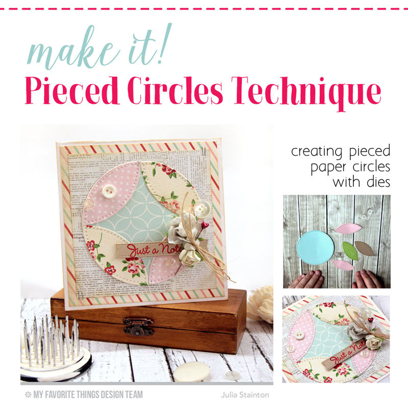 Get that Quilt Look! How to create Pieced Paper Circles with Dies. Tutorial with video!