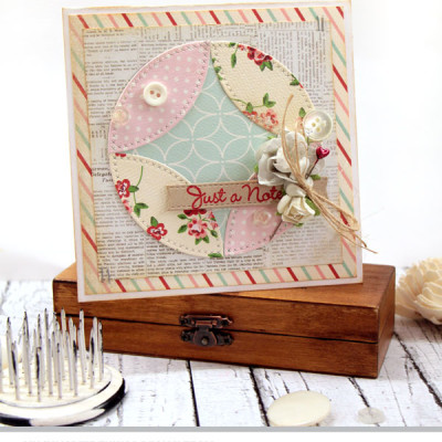 Pieced Circles, a MFT Stamps Die-namics Design Challenge and a Video Tutorial