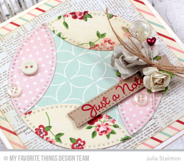 How to Create Pieced Circles with Dies by Julia Stainton
