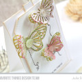 Butterfly Stitches Card by Julia Stainton