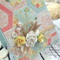 Stitched Hexagon Hello Card by Julia Stainton