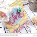 Sweet Summer Cycling Card by Julia Stainton featuring MFT Die-namics