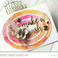 Oval Watercolor Wishes Card by Julia Stainton featuring MFT Stamps