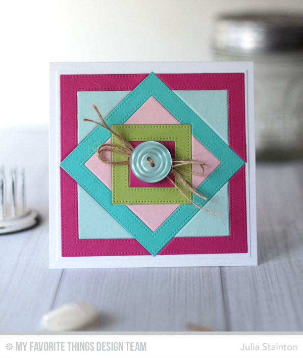 Quilt Frames  Card by Julia Stainton featuring MFT Stamps