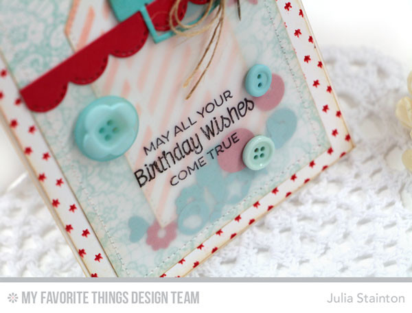 Birthady Wishes Vellum Pocket Card by Julia Stainton featuring MFT Stamps