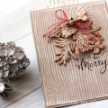 Be Merry Rustic Holiday Christmas Card by Julia Stainton