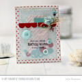 Birthday Wishes Card by Julia Stainton featuring MFT Stamps