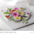 Blissful Blooms Bouquet Card by Julia Stainton featuring MFT Stamps and Copic Coloring