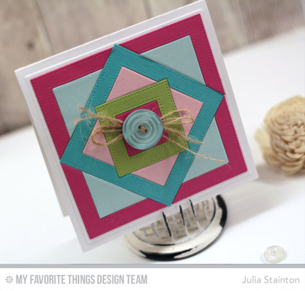 Quilt Card featuring MFT Pierced Square Frames Dienamics by Julia Stainton