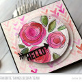 Hello Roses Watercolor Card by Julia Stainton