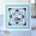 Frames Hello Card by Julia Stainton featuring MFT Stamps