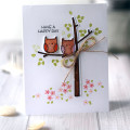 Sweet Owls Card by Julia Stainton