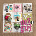 Hey Girl Scrapbook Layout Page by Julia Stainton featuring Maya Road
