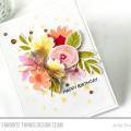 Floral Birthday Card featuring Modern Blooms