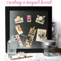 creating a magnetic board and custom magnets by Julia Stainton