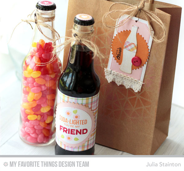 Soda Pop Gift Ensemble by Julia Stainton featuring MFT Stamps and Die-namics
