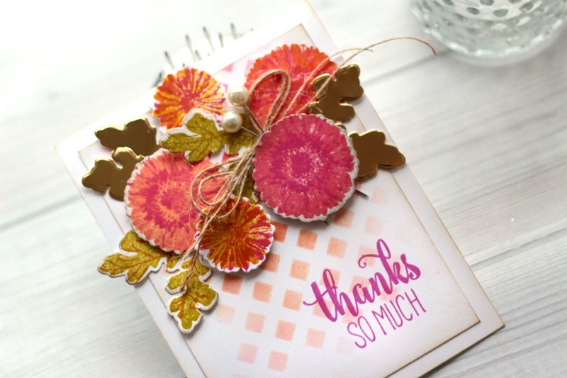 Late Summer Daisies Thank You Card by Julia Stainton