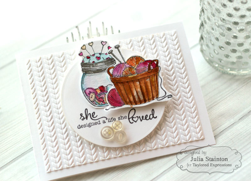A life She Loved Crafting Card by Julia Stainton