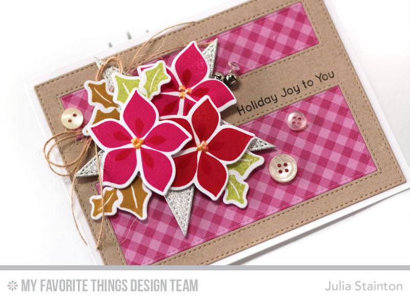 Holiday Joy Christmas Bouquet Card by Julia Stainton