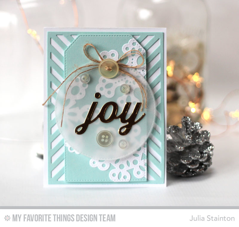 Holiday Joy Christmas Card featuring Die-namics by Julia Stainton