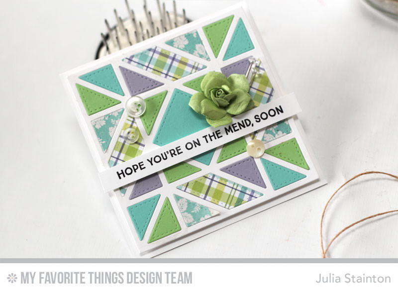 Stitched Quilt Card by Julia Stainton